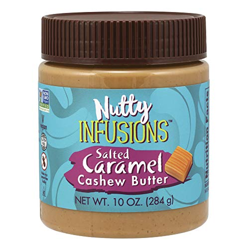 (NOW Foods, Nutty Infusions, Salted Caramel Cashew Butter, Creamy & Smooth, Salty-Sweet Sensation, 10 oz)