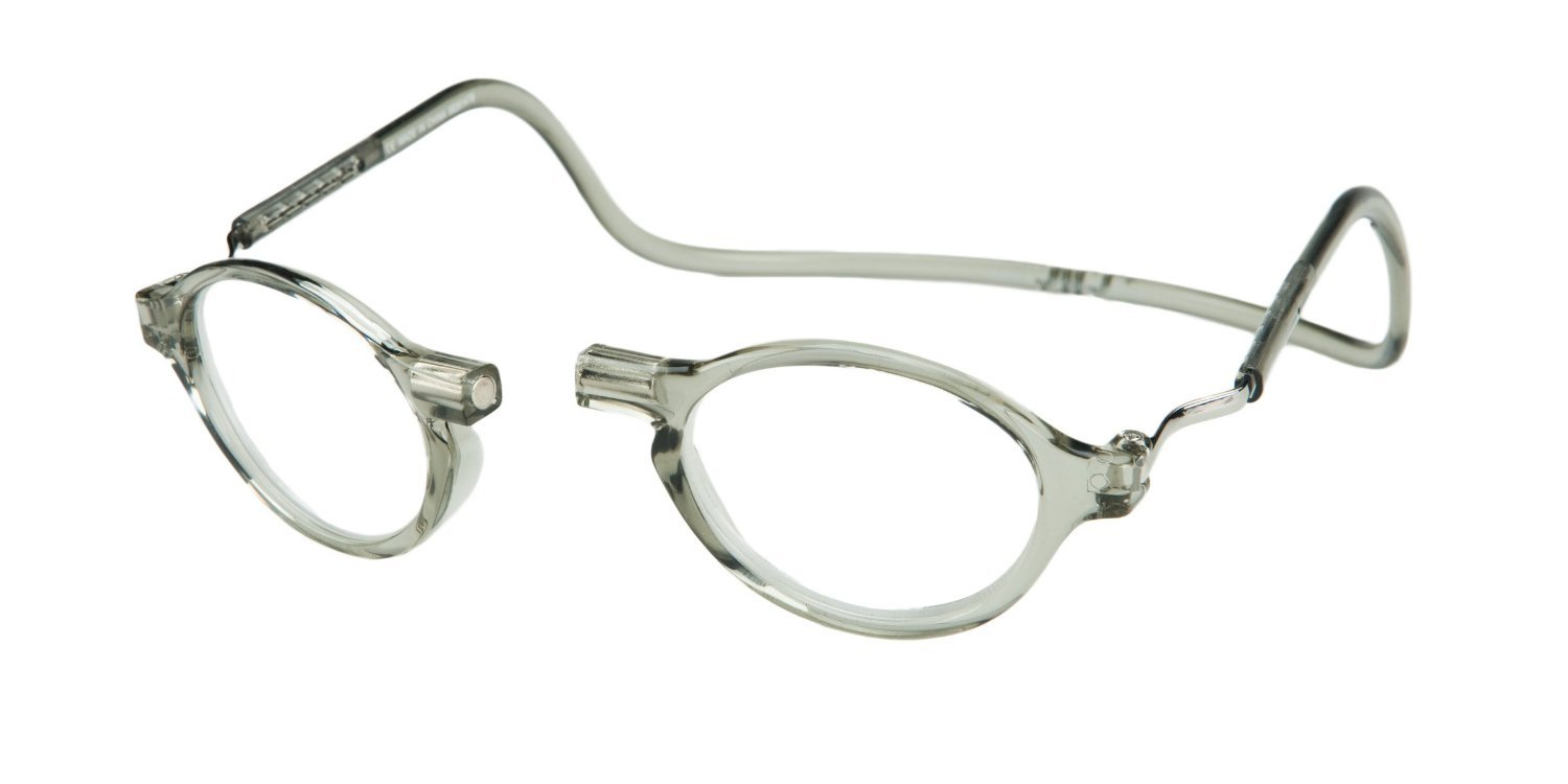 Clic Magnetic Classic Reading Glasses in Smoke +1.75 by CliC