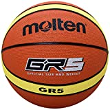 Molten Premium Rubber Basketball (Orange/Yellow, Junior/Size 5)