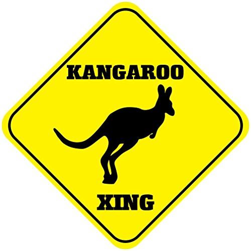 Kangaroo Road Sign (Fastasticdeals Kangaroo Crossing Funny Metal Aluminum Novelty Sign)