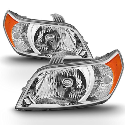 (Fits 2009 2010 20011 Chevy Chevrolet Aveo5 Both Side Headlights Headlamps Replacement - Left + Right)