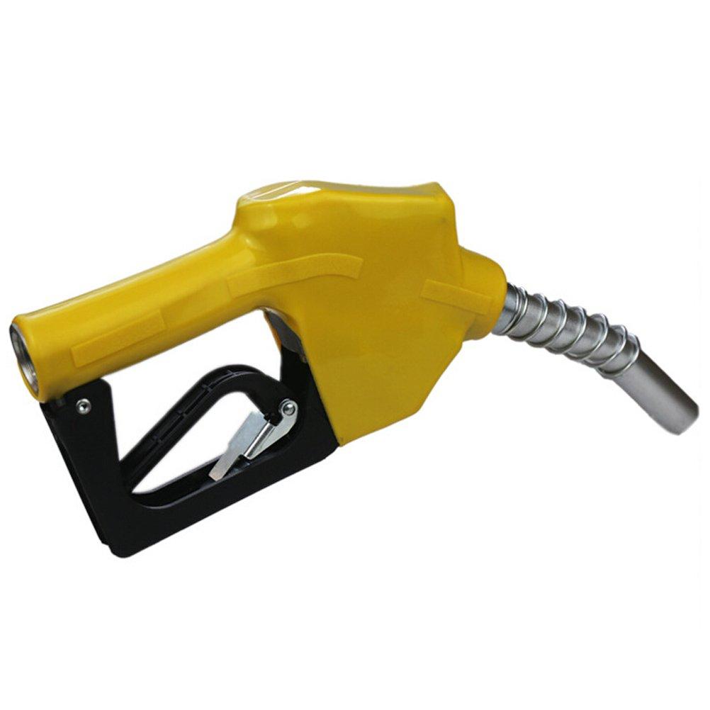 OUNONA Automatic Fuel Nozzle Auto Shut Off Oil Fuel Diesel Fuel Refilling (Yellow)