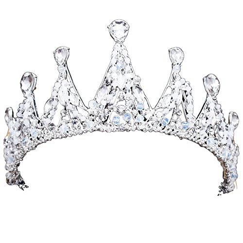 Olici Bridal Wedding/Prom Hair Pins/Headdress Accessories/Party/Girls Crown Jewellery Es Atmospheric Crown Decorations ()