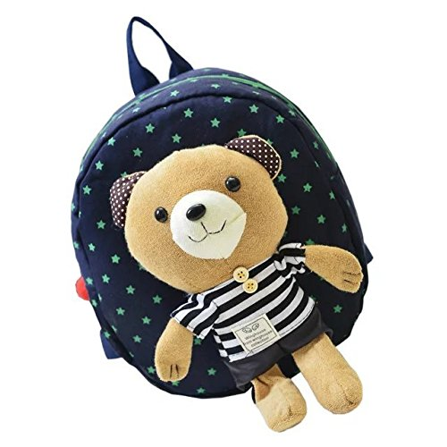 COFFLED Cute Animal Bear Anti-Lost Toddler Lunch Preschool Bag with Harness; Toddler Walking Safety Mini Backpack With Soft And Adjustable Strap for Boys and Girls