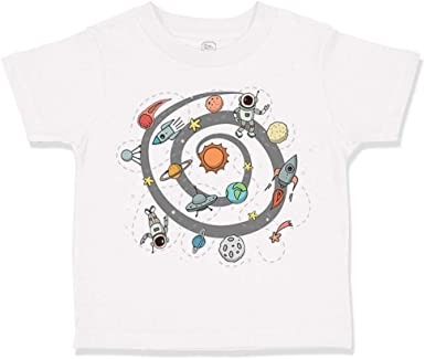 Manlee Solar System Unisex 100/% Cotton Childrens 3//4 Sleeves T-Shirt Top Tees 2T~5//6T