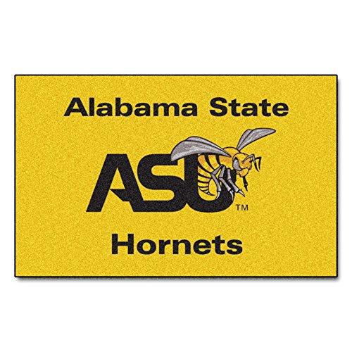 FANMATS NCAA Alabama State University Hornets Nylon Face Ultimat Rug