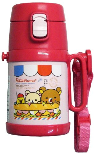 Rillakuma Stainless Bottle w/ straw 400ml | water bottle | SB-400S ( Japanese Import ) by OSK