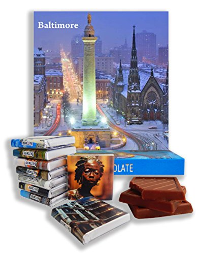 DA CHOCOLATE Candy Souvenir BALTIMORE Chocolate Gift Set 5x5in 1 box - Maryland Map National Harbor