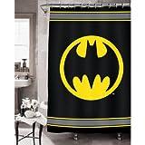 Batman Bathroom Set (Shower Curtain + Bath Rug + Waste Can)