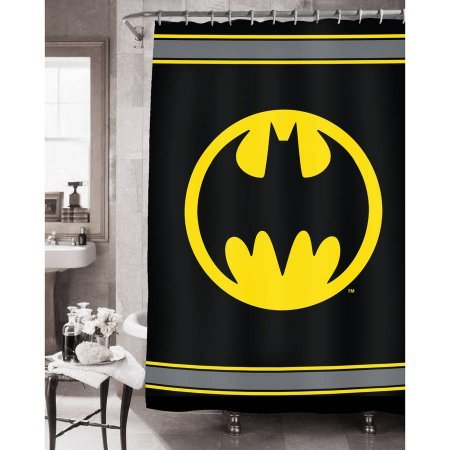 Batman Bathroom Set (Shower Curtain + Bath Rug + Waste Can) by Batman