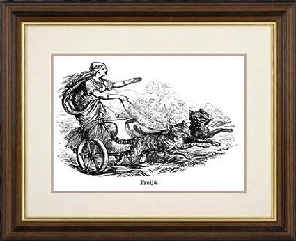 Print Of Freya Frigg Goddess Of Love In Scandinavian