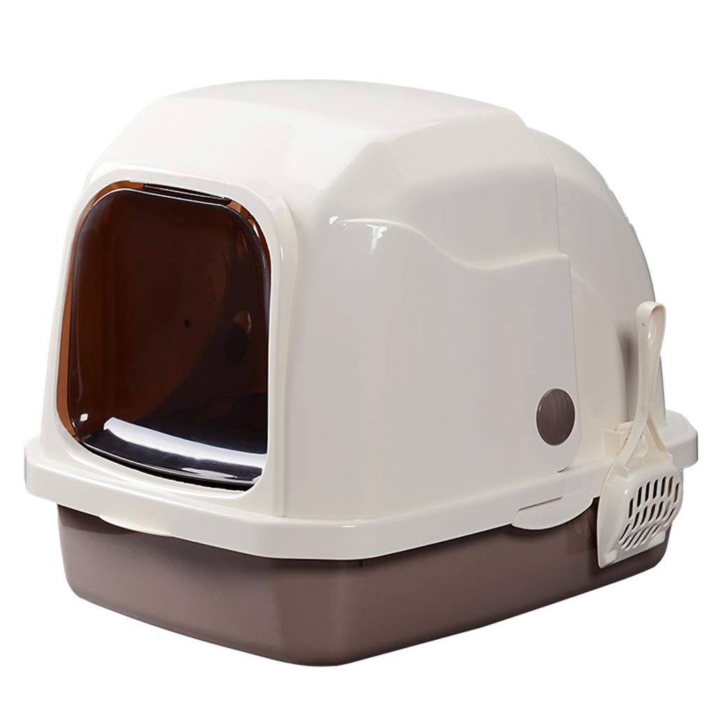 BROWN 41 *52.5 *42cm BROWN 41 *52.5 *42cm Wcx Cat Litter T ,Enclosed Hooded Deodorant Fully Enclosed 52.5x41x42CM (colore: BROWN, Size: 41 * 52.5 * 42cm)