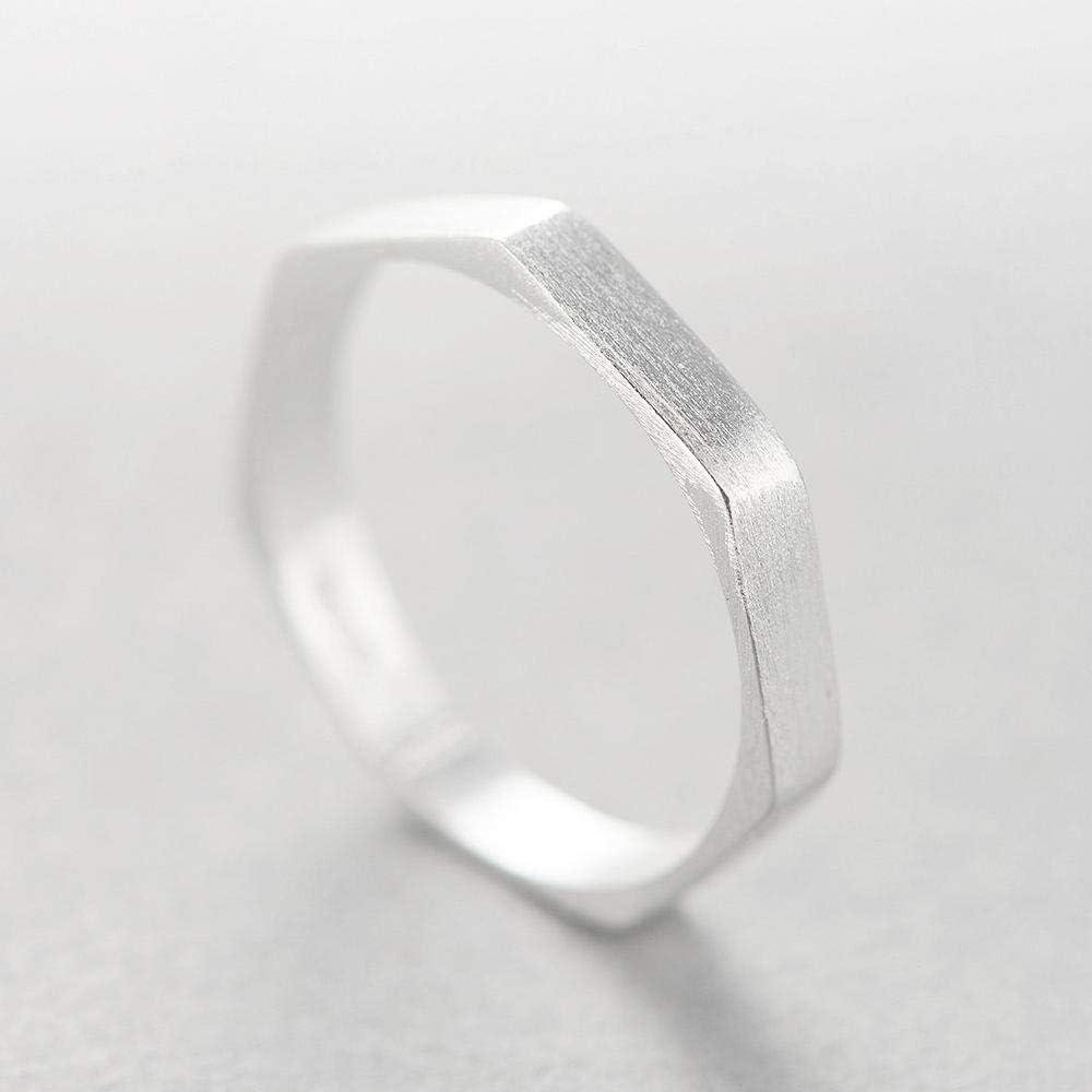Dixinla Ring Verstellbar, S925 Sterlingsilber Mode Zeichnen