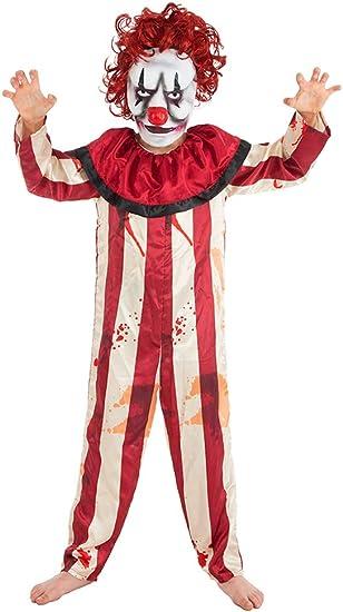 Disfraz infantil de payaso horror, disfraz de payaso asesino para ...