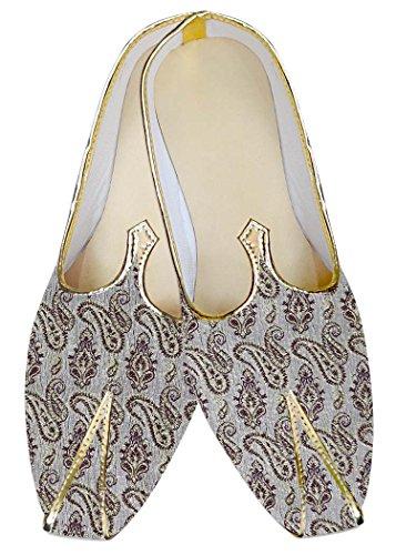 INMONARCH Lavanda Hombres Boda Zapatos Paisley MJ017054