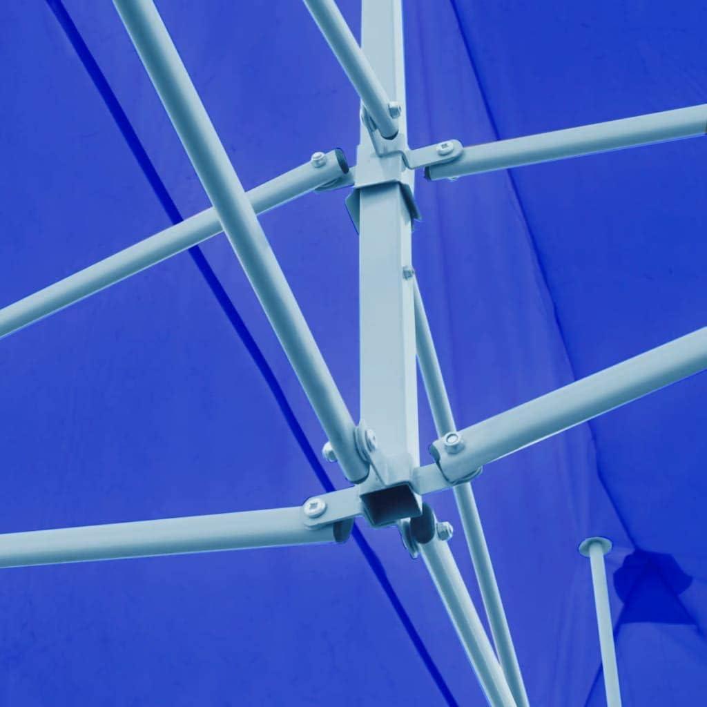 vidaXL Tenda per Feste Pop-up Pieghevole Blu 3x6 m Tendone Gazebo Chiosco