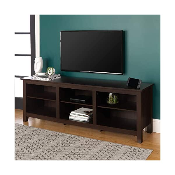"""WE Furniture 70"""" Wood Media TV Stand Storage Console"""