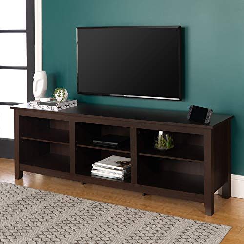 Walker Edison Minimal Farmhouse Wood Universal Stand for TV