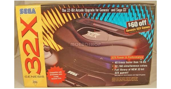 Amazon com: Sega Genesis 32X Console: Unknown: Video Games