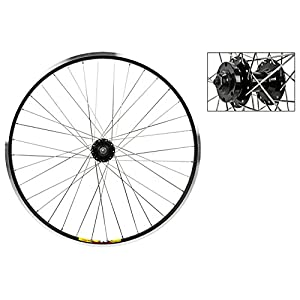 "Wheel Master Weinmann Front Wheel 26"" x 1.5"", 36H, Quick Release, Black with Silver Spokes"