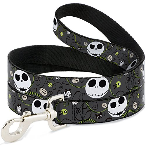 Buckle Down Dog Leash - NBC Jack Expressions Halloween Elements Gray -