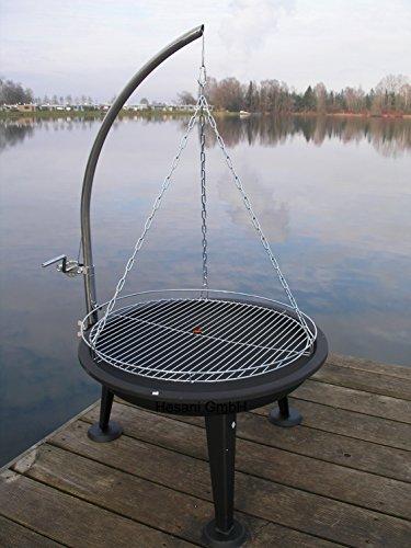 HESANI 10360-1+60 cm chrom Schwenkgrill Grill Grillarm aus Edelstahl Grillrost Feuerschale Feuerkorb