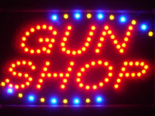 ADV PRO led057-r Gun Shop LED Neon Sign WhiteBoard