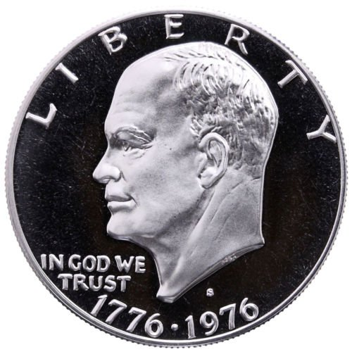 (1976 S Eisenhower Proof Type-1 Dollar Choice Uncirculated $1 PR-68 US)