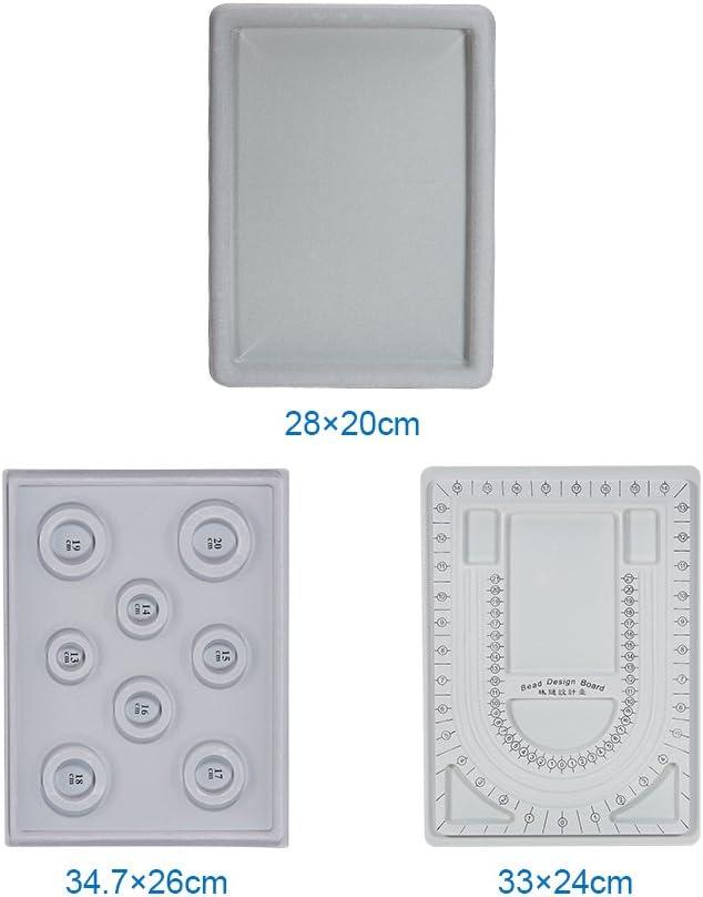 PandaHall Elite Kunststoff Perle Design Boards Set