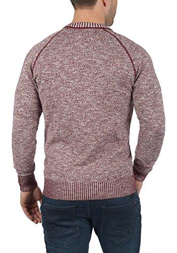 Cuello Thian 100 0985 Jersey Suéter solid Hombre De Red Para Algodón Redondo Punto Con Wine 8qwpfdvp