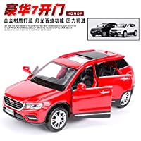 Greensun 1:32 Toy Car HAVAL H6 Metal Alloy Diecast Car Model Miniature Scale Model Sound and Light Model Car Toys for Children