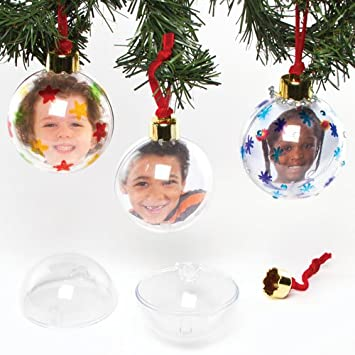 Baker Ross Bolas De Navidad Transparentes Grandes Que Los Ninos - Bolas-de-navidad-transparentes