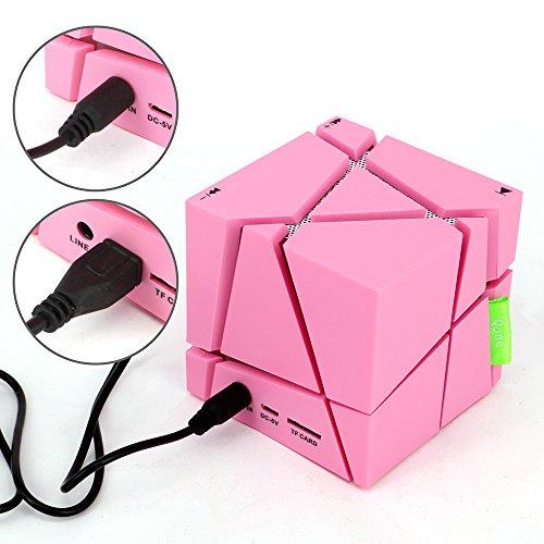 fucan Magic Cube Mini portátil Bluetooth Speaker Caixa De Som LED caja de sonido estéreo apoyo TF FM Manos libres Altavoces subwoofer: Amazon.es: ...