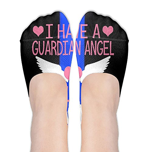 Angel Wings Design Wine Glass (HXXUAN Women's No Show Socks Angel Heart Wings Non Slip Low Cut Boat Socks)