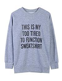 The Bazaar R Womens Fashion Cotton Letter Printing Round Neck Sweatshirts