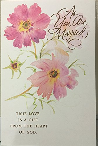 """AS YOU ARE MARRIED"" With Glittery Roses POSTAL CARD WITH ENVELOPES, TRUE LOVE IS A GiFT FROM THE HEART OF GOD"