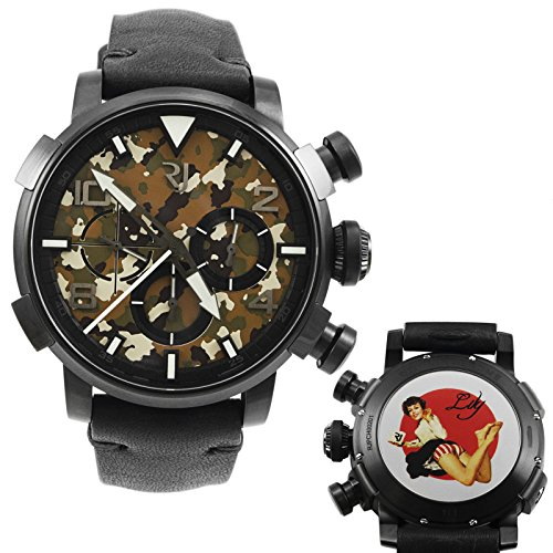 Romain Jerome Pinup DNA Black WWII Lily Barefoot Chronograph Automatic Men's Watch RJ.P.CH.002.01
