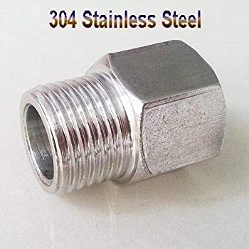 line Thread is 14-1.5mm Steel Hose Nipple for 8mm about 5//16: