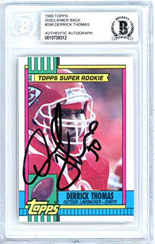 Derrick Thomas Autographed 1990 Topps Card Autographed #248 Kansas City Chiefs - Beckett Authentic