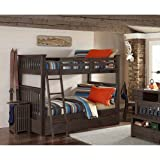 NE Kids Highlands Harper Full Over Full Bunk with Trundle in Espresso For Sale