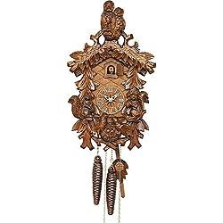 Kammerer Uhren Hekas Cuckoo Clock Owls, squirrels, Nest