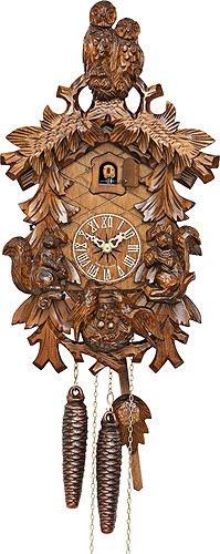 (Kammerer Uhren Hekas Cuckoo Clock Owls, squirrels, Nest)