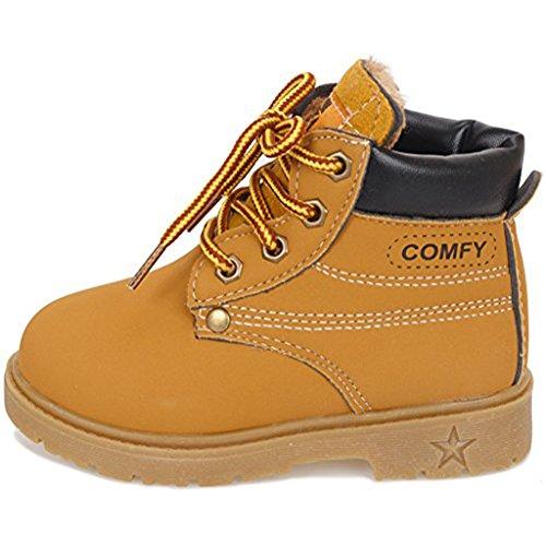 Maxu Kid's Rain Boots Warm Combat Shoes(Toddler/Little Kid)