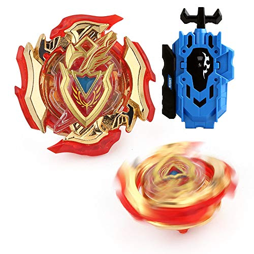 LXS Bey Blade Burst Battling Top God B-105 Gold Cool Starter Georgette Z Achilles .11.Xt High Performance Spinning Top with Burst Launcher Metal Fusion 4D Gift Toys for Children ()