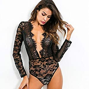 5525073fa5a SHAN Babydoll Women's Sexy Lingerie Lace Transparent Corset Lingerie for Women  Sexy Pajamas Sex Game Clothing,