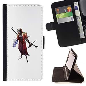 Momo Phone Case / Flip Funda de Cuero Case Cover - Asistente de Goth;;;;;;;; - Sony Xperia Z5 5.2 Inch (Not for Z5 Premium 5.5 Inch)