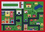 SavaHome ADK1009 Kids Non-Slip Rubber Back Extremely Durable Anti-Slip Water Resistant Small Rug for Childrens Room Play Room Fun & Smart Kids Home Décor - Animals World 4'4'' x 6'2''