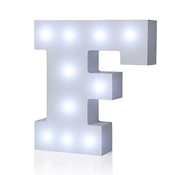 Amazon.com: Luz LED de hasta alfabeto de madera Marquee ...