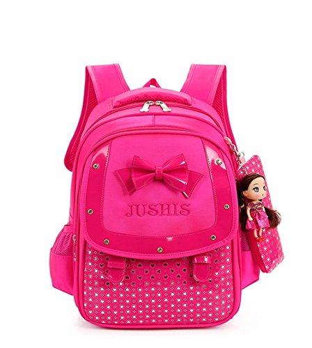 HGDGears Kinder Schulrucksack Mädchen Schultasche für Schule und Freizeit (rot) rot