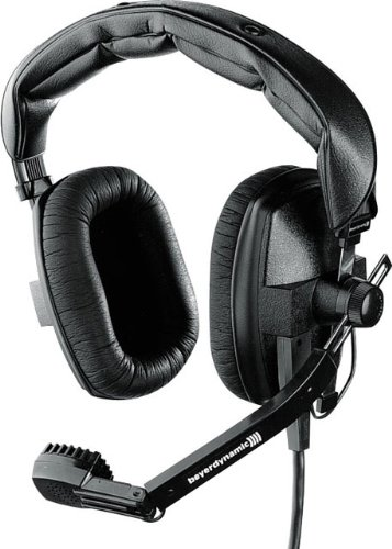 Beyerdynamic DT-109-200-50-BLACK Closed Headset with Dynamic Hypercardioid Microphone, 50 Ohms, Black ()